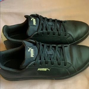 Black and Gold Puma Shoes